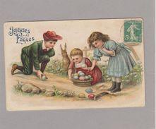 Joyeuses Pâques - Enfants - Lapin - Oeufs (voir Descriptif) - Easter
