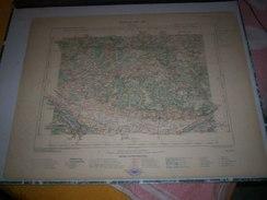 CARTE GEOGRAPHIQUE _ G - Format  45 X 71  De INDREet LOIR_MAINE Et LOIRE_Feuille SAUMUR_XII_ 19 ) En 1889 - Geographische Kaarten