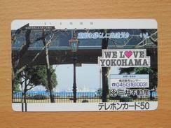 Japon Japan Free Front Bar, Balken Phonecard - 110-5621 / We Love Yokohama - Japon
