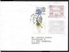 ! - Portugal - Lettre Avec 4 Timbres Dont 2 Vignettes De Distributeur - 1910-... République