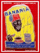 """SUPER PIN'S BANANIA : """"Le Petit Déjeuner Familial"""" En émail Base Or, Format 2,5X1,7 Cm - Marques"""