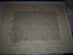 CARTE GEOGRAPHIQUE _ G - Format  45 X 57  De CHARENTE_HAUTE VIENNE_Feuille ROCHECHOUART_XIII_ 25 ) En 1905 - Geographical Maps