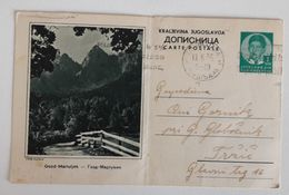 YUGOSLAVIA Slovenia Gozd Martuljek Mountain Postal Card Postmark And Flam Ljubljana 1939 - Postal Stationery