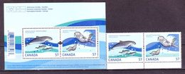 Canada 2010 MARINE MAMMALS DOLPHINS POLAR YEAR JOINT ISSUES 2v+1bl MNH** - Preservare Le Regioni Polari E Ghiacciai