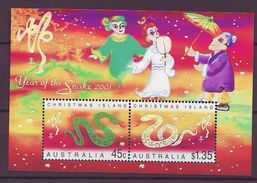 CHR 2001 Chinese New Year - Year Of The Snake S/s  MNH - Territorio Antártico Australiano (AAT)