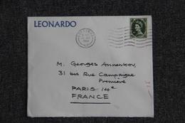 Lettre LEONARDO De LONDRES à PARIS - 1952-.... (Elizabeth II)