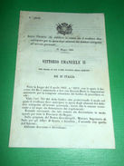 Regno D'Italia Regio Decreto Spesa Alimenti Debitore Arresto Personale 1866 - Old Paper