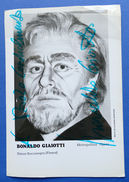 Autografo Del Cantante Lirico Basso Bonaldo Gaiotti - Stagione 1972-73 - Autographs