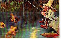 CPA Gnome Nain Lutin Type Thièle Série 215 éditeur HKCM SCHLITT Non Circulé - Other Illustrators