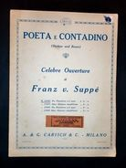 Musica Spartiti - F. V. Suppè - Poeta E Contadino - Ouverture Per Piano A 2 Mani - Old Paper