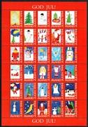 ÅLAND 1994 Christmas Seals: Complete Sheet Of 30 Labels UM/MNH - Aland