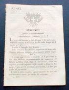 Decreto Eugenio - Debito Pubblico Degli Stati Di Terraferma - 1848 - Old Paper