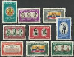 COLOMBIA 1960 YT  365 A 373 ** MNH CORREO AEREO Vc 10 Euros - Colombia