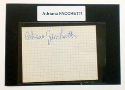 Autografo Originale Adriana FACCHETTI - Foglietto - 1987 Ca. 586 - Autographs