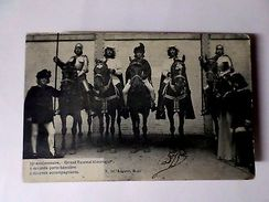Horses Horse MEDIEVAL WARRIORS BELGIUM BELGIQUE Postcard Stamp 1910yers Z1 - Postcards