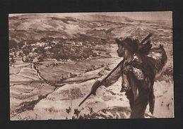 O EMIGRANTE PORTUGUESE EMIGRATION  PORTUGAL Rare OLD ART POSTCARD MALHOA Z1 1955 - Postcards