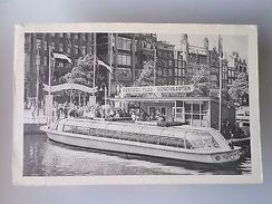 ADVERT PC HOLLAND AMSTERDAM BOAT BOATS REEDERIJ PLAS RONDVAARTEN TOURISM 50s Z1 - Postcards