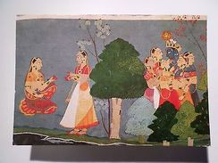 ADVERT TOURISM POSTCARD 1970s INDIA ART GITA GOVINDA SERIES Z1 - Postcards