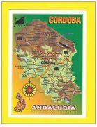 POSTCARD MAPS MAP ANDALUCIA CORDOBA SPAIN ESPAÑA ESPAGNE Z1 - Postcards