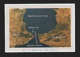 PC SATELITE VIEW SPAIN ESPAÑA ANDALUCIA GIBRALTAR MOROCCO ATLANTIC OCEAN   Z1 - Postcards