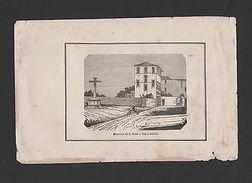 ANTIQUE PRINT 1850s LISBON CHELAS MOSTEIRO S.FELIX E SANTO ADRIÃO PORTUGAL Z1 - Postcards