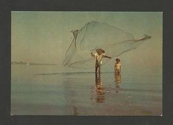 POSTCARD EAST TIMOR LESTE DILI FISHERMAN PESCADOR NA BAIA 1960s Z1 - Postcards