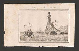 RARE! ANTIQUE PRINT 19CenturyYear1830  AUSTRALIA SAILING SHIP LOTH'S WEIB   Z1 - Postcards