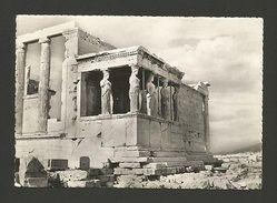 REAL PHOTO POSTCARD 50s GREECE ATHENES ATHENS ARCHEOLOGY MYTHOLOGY ACROPOLIS Z1 - Postcards