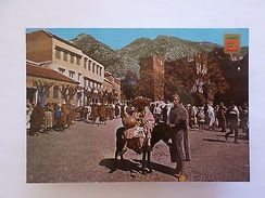 AFRICA AFRIKA AFRIQUE MOROCCO MAROC DONKEY & COUNTRYMAN 1970 YEARS POSTCARD Z1 - Unclassified