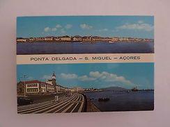 PORTUGAL AZORES AÇORES SÃO MIGUEL PONTA DELGADA VIEWS & CAR CARS 1960years PC Z1 - Postcards