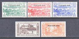 NEW  HEBRIDES  J 16-20   *   PORTO - Postage Due