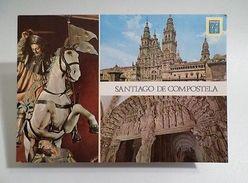 SANTIAGO DE COMPOSTELA & Horse Horses GALICIA SPAIN ESPAÑA Postcard 1970s Z1 - Postcards