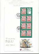 2 Carnets JOURNEE DU TIMBRE  97 / 98  Oblitérés  1 Er Jour  Sur Lettre.........à Voir - 1990-1999