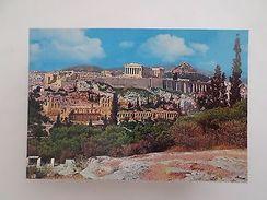 GREECE ATHENS ATHENES ATHEN AKROPOLIS GENERAL VIEW 1960 YEARS POSTCARD Z1 - Postcards
