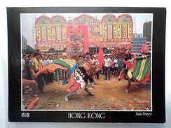 CHINA CHINE HONG KONG LION DANCE TIEN HAU FESTIVAL CASTLE TUEN MUN 1990s PC Z1 - China