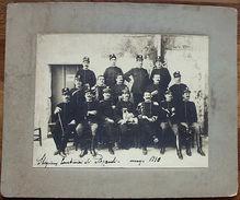 Foto Epoca Militaria Stazione Carabinieri Di Pozzuoli Marzo 1910 - Fotografia