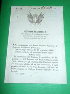 Decreti Regno Sardegna Torino Funzionario Di Direttore Economo 1854 - Old Paper