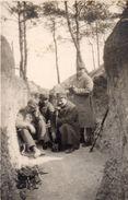 PHOTO FRANÇAISE - POILUS TELEPHONISTE DANS LE SECTEUR DES MARQUISES - TRANCHÉE DE 2e LIGNE - MARNE - REIMS 1914 1918 - 1914-18