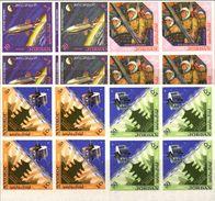 JORDAN 1965 Space Pagoda MARG.IMPERF.4-BLOCKS:5 [non Dentelé,Geschnitten,no Dentado,non Dentellato,ogetande] - United States