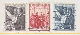 CZECHOSLOVAKIA  487-9    (o)  STALIN &  LENIN - Czechoslovakia