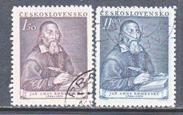 CZECHOSLOVAKIA  509-10    (o)   PHILOSOPHER   COMENIUS - Czechoslovakia