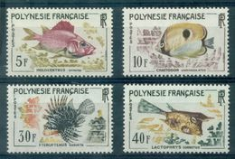 POLYNESIE N° 18 / 21 POISSONS N X (ch.légère ) Tb. Cote 42.50 € . - Polynésie Française