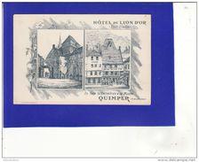 QUIMPER Hotel Du Lion D'or  Pub Illustration  /TRES TRES BON ETAT /é835/ - Quimper