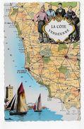(RECTO / VERSO) LA COTE VEDEENNE EN 1955 - CARTE - BEAU TIMBRE - FORMAT CPA VOYAGEE - Autres Communes