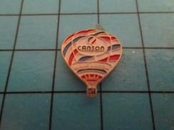 Pin912d  Pin's Pins / Rare Et De Belle Qualité MONGOLFIERES / BALLON LIBRE OAPIER A DESSIN CANSON - Airships
