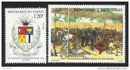 Congo 2005 Foundation Of Brazzaville By Explorer Brazza Mint Set - Congo - Brazzaville