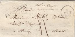 VOSGES LAC 1828 82 / PLOMBIERES TAXE 4 => NANCY INDICE 9 = 55 EUROS - Marcophilie (Lettres)