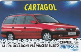 11133-CARD CARTAGOL - OPEL ASTRA - EURO 96 - Automobili