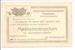Poppenhausen. Zimmerstutzen-Schützengesellschaft. Maskenkränzchen. SCHÜTZENVEREIN - Other