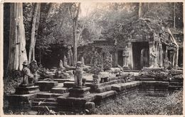 ¤¤  -  Carte-Photo Non Située   -  CAMBODGE  ??  -  Palais En Ruine , Statue, Boudda  -  ¤¤ - Kambodscha